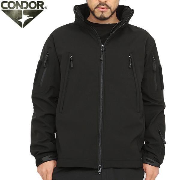 CONDOR コンドル 602 SUMMIT タクティカル ソフトシェルジャケット BLACK ブラック ミリタリージャケット メンズ ジャケット ミリタリー サバゲー 服 WIP アウトドア 【クーポン対象外】 キャッシュレス 5%還元 新生活応援 衣替え 春