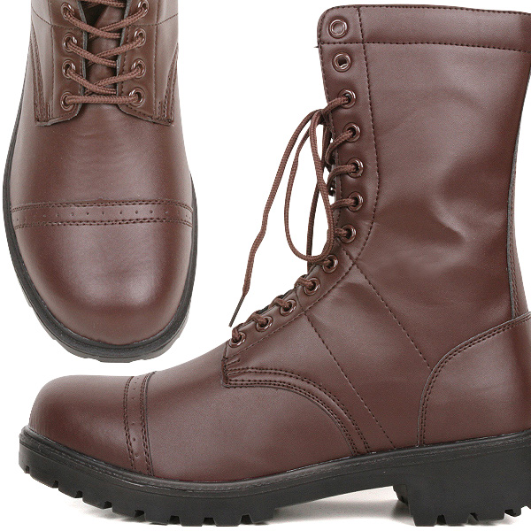 Has a brand new US Army WW2 paratrooper boots Brown American paratrooper boots reprint stain resistant and lightweight and easy to wear