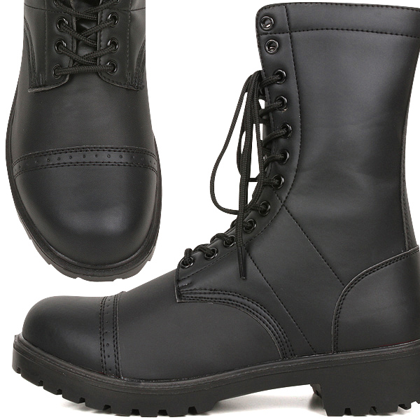 Has a brand new US Army WW2 paratrooper boots black US paratrooper boots reprint stain resistant and lightweight and easy to wear