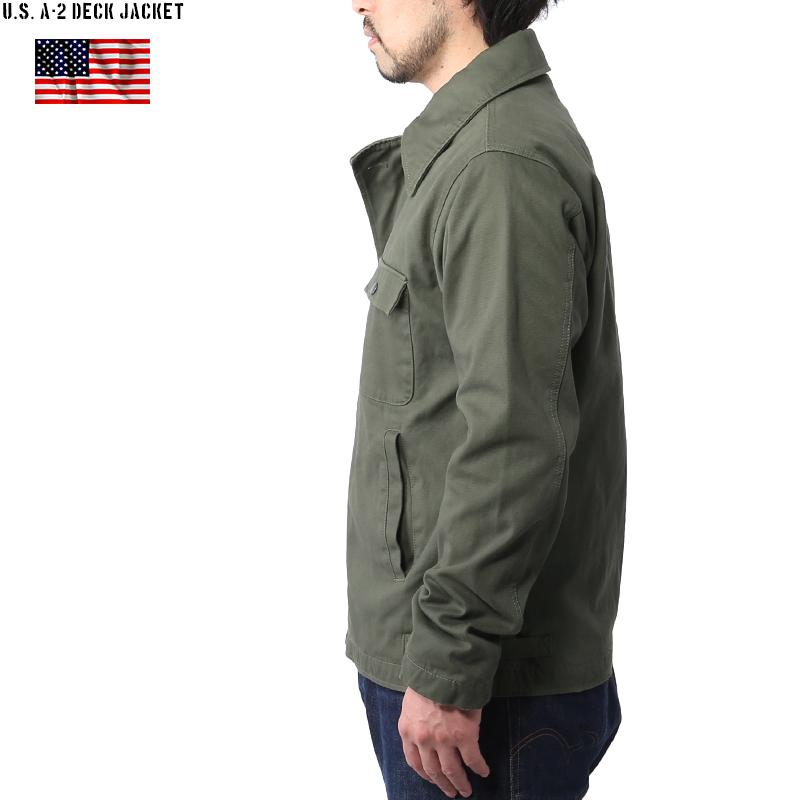 지금은 오직 20% OFF [A-2] 신품 미 해군 (U.S.NAVY) A-2 덱 자 켓 OD N-1 갑판 재킷 후계자 직조의 미세한 속 정글 피복을 사용 A-2 밀리터리 재킷 갑판 재킷 mss WIP 남성