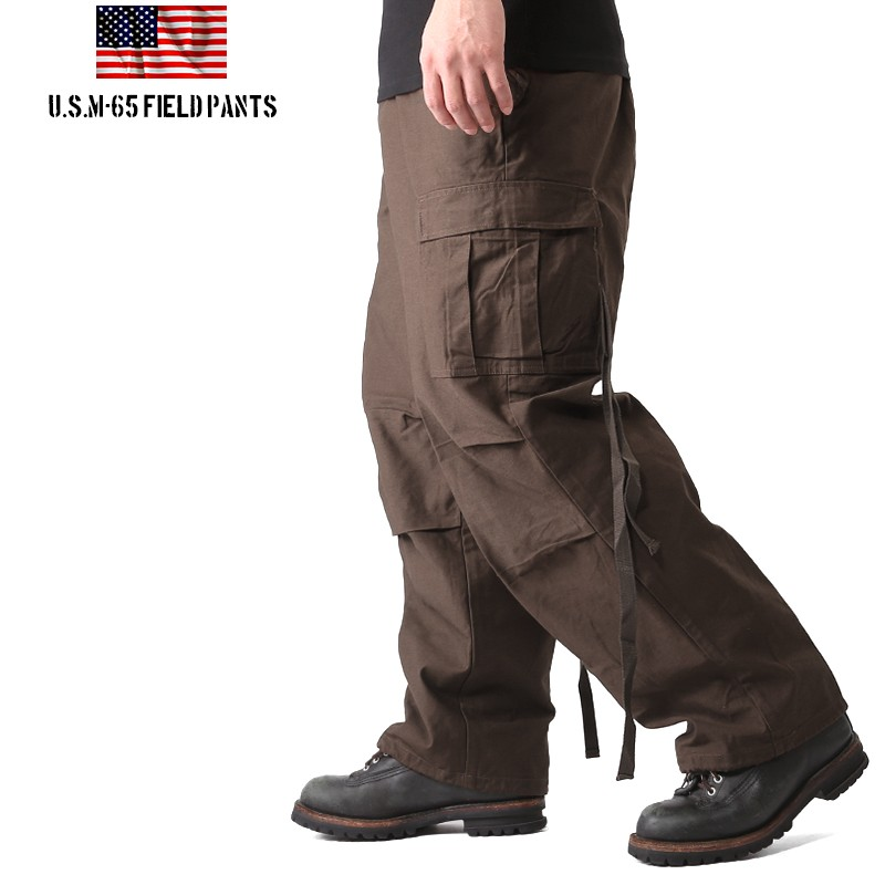 New U.S. M-65 field cargo pants Brown M-65 army bread