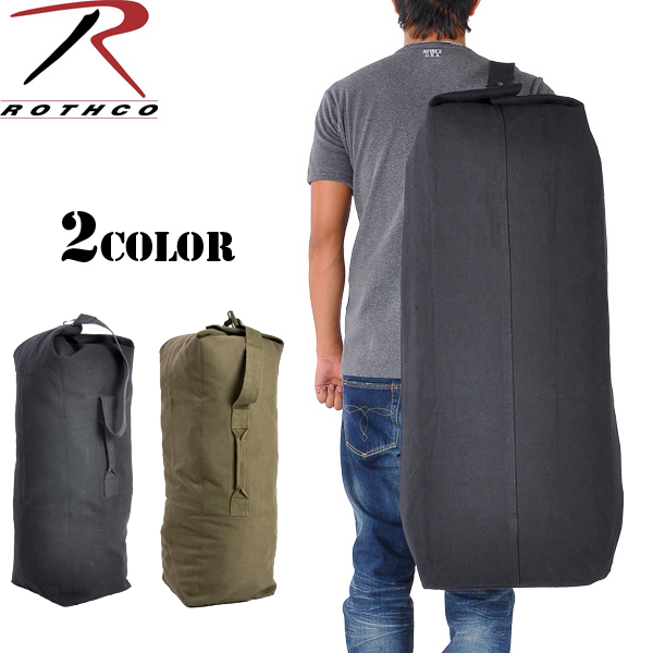 Rothco Rothko Top Load Canvas Duffle Bag Jumbo Over With Cottenwebsciol Shoulder Strap Carry Easy Duffel