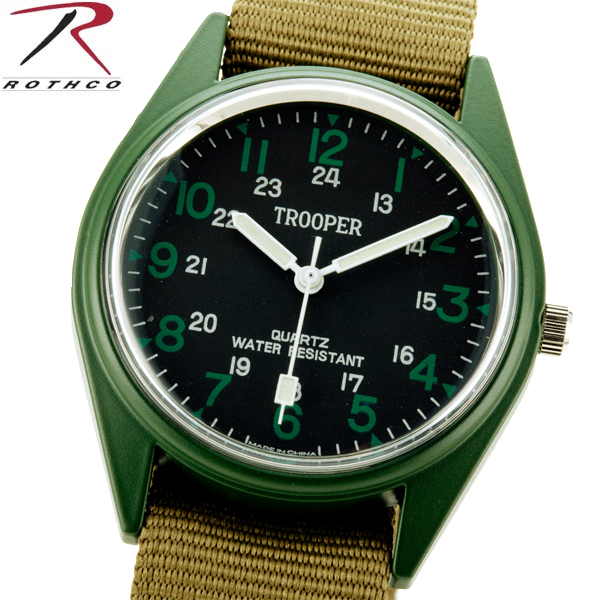 ROTHCO Rothko 4104 O FIELD WATCH field watch case is made of stainless steel and can be a big success to living waterproof with outdoor, survival game field watch WIP ROTHCO Rothko