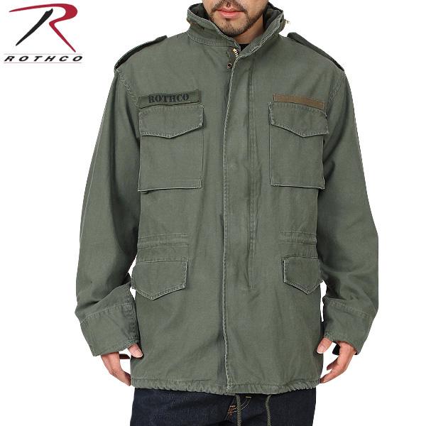 只今20%OFF◆[M-65] ROTHCO ロスコ VINTAGE M-65ジャケット OLIVE 長年着込んだ雰囲気を 見事に再現しています! U.S.ミリタリー名品中の名品 ROTHCO ロスコ M-65 WIP メンズ ミリタリー アウトドア【新生活 新学期 買い替えに】