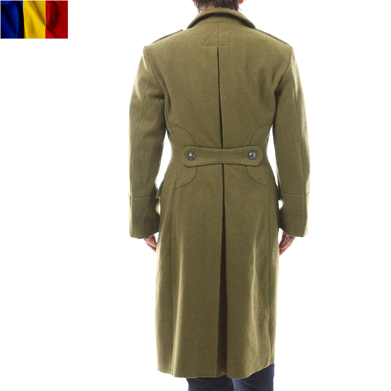 Real brand new Romania forces welling coat thick wool felt feelings even the fine detail, such as winter great coat back strap and slit in