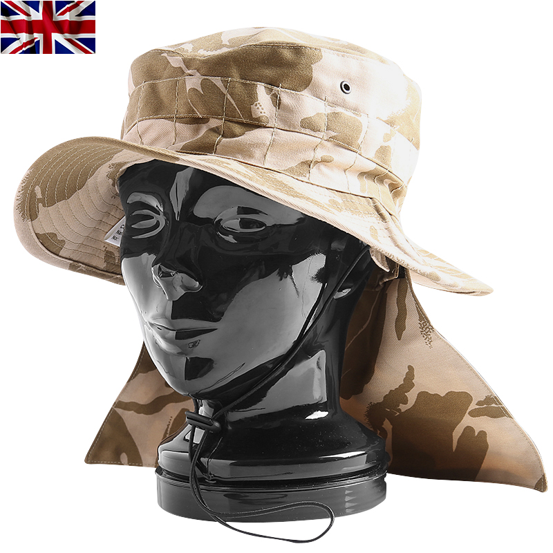 Real brand new British army tropical Hat desert DPM Camo protects your skin  from the Sun with a detachable neck cover with Velcro so WIP c94315218d3