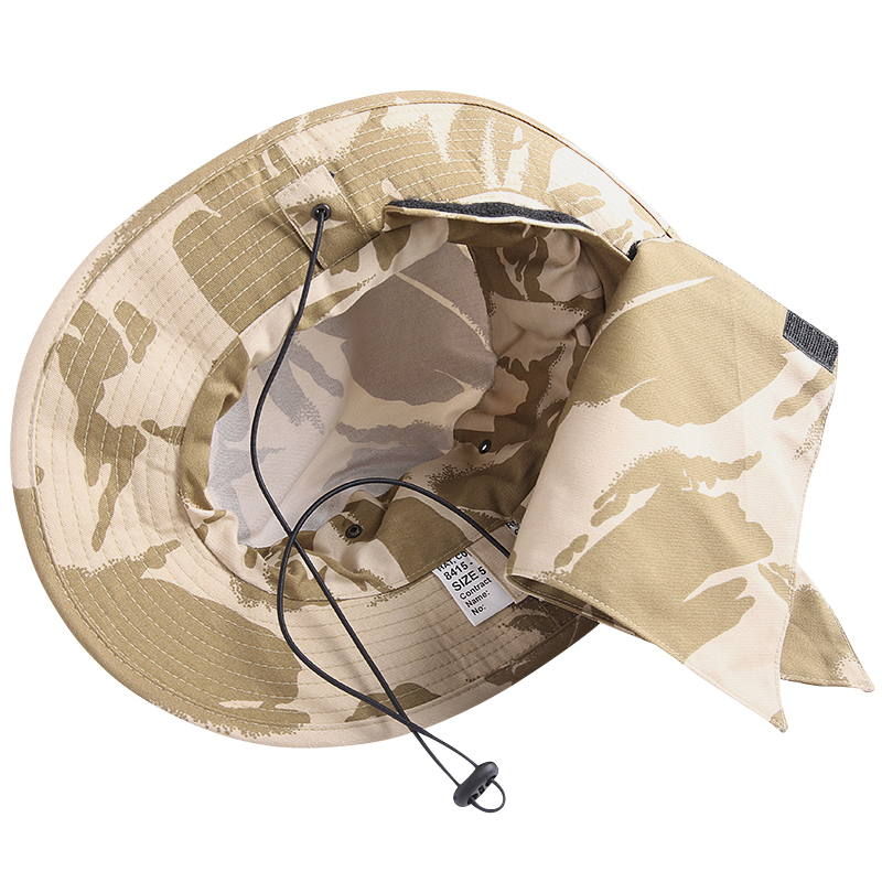 Real brand new British army tropical Hat desert DPM Camo protects your skin from the Sun with a detachable neck cover with Velcro so WIP