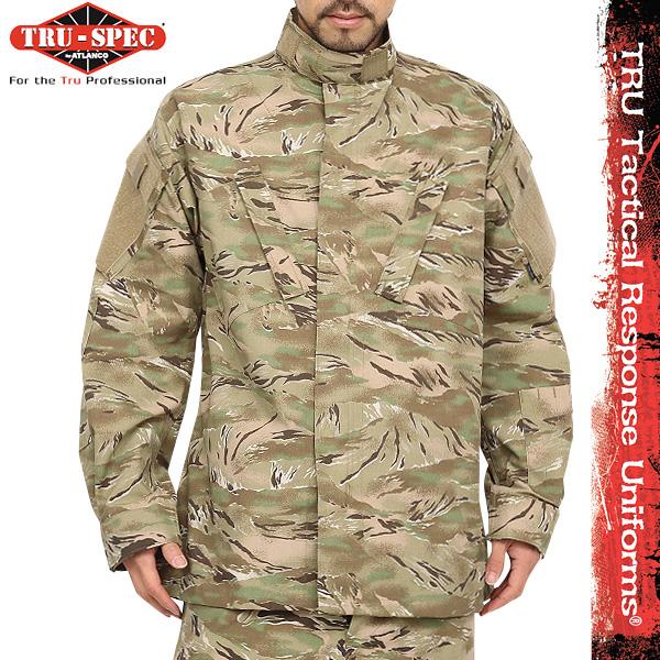 【あす楽】サバゲー 服 TRU-SPEC トゥルースペック 米軍 Tactical Response Uniform ジャケット All Terrain Tiger Strip [1262] タイガーストライプ模様 カモフラ 【クーポン対象外】 WIP メンズ ミリタリー アウトドア キャッシュレス 5%還元 新生活応援 衣替え 春
