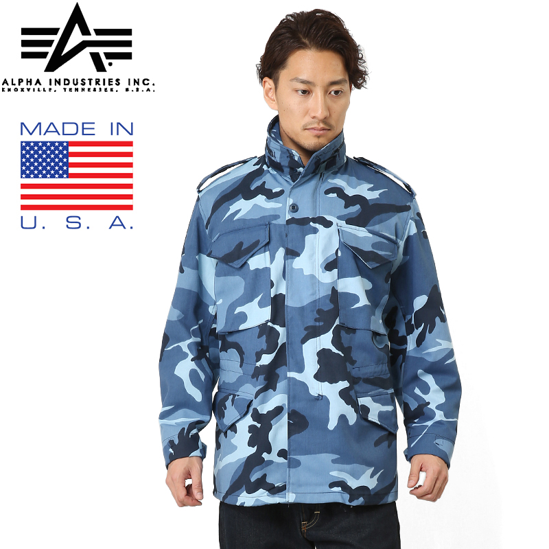 brand new 9ca10 eb0ba 20% OFF ◆ ALPHA alpha MADE IN USA M-65 field jacket Midnight Camo WIP men  military outdoor brand in the shop