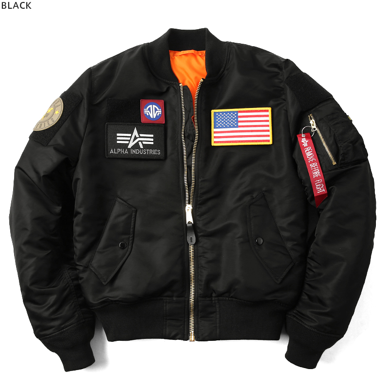 d84953bd13b ALPHA Alpha USA Japan not released FLEX SLIM Ma-1 flight jacket TA0125  jacket mens large