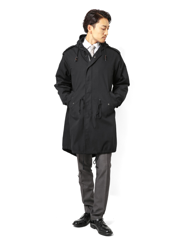 HOUSTON Houston m-51 parka mods coat military M51 coat m-51 parka size replacement one free field jacket BK