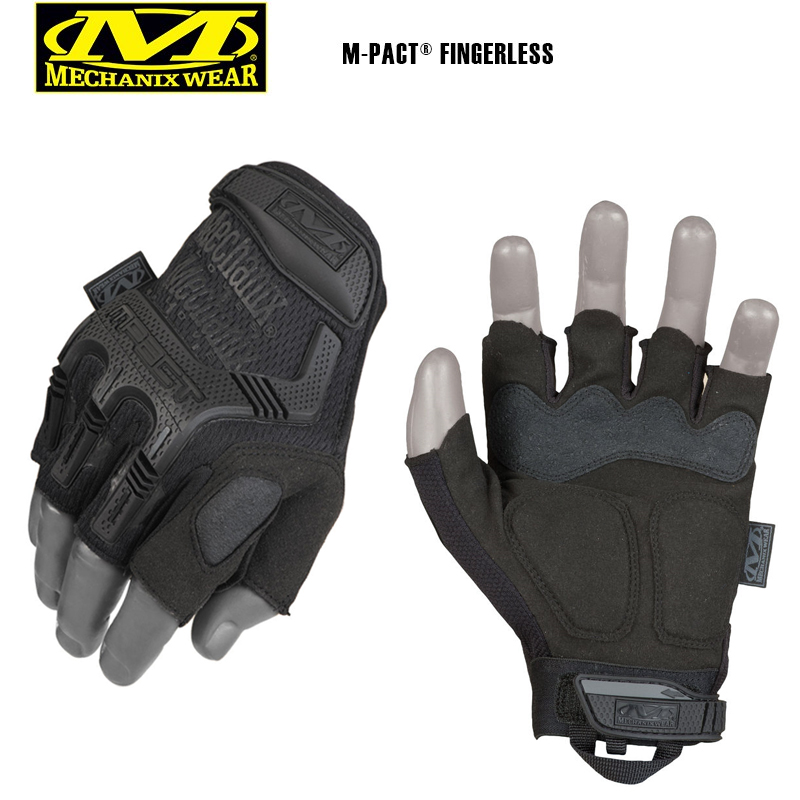 Fingerless Mechanix M-Pact Tactical Gloves Military Bike Race Sports Wear NEW