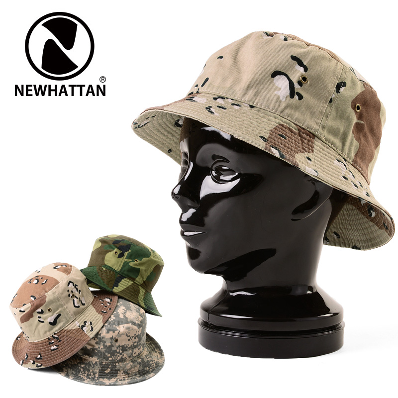 69b9c8400036e It is just 20% OFF ◇ NEWHATTAN ニューハッタン Bucket Hat CAMO  1500 WIP men  military outdoor