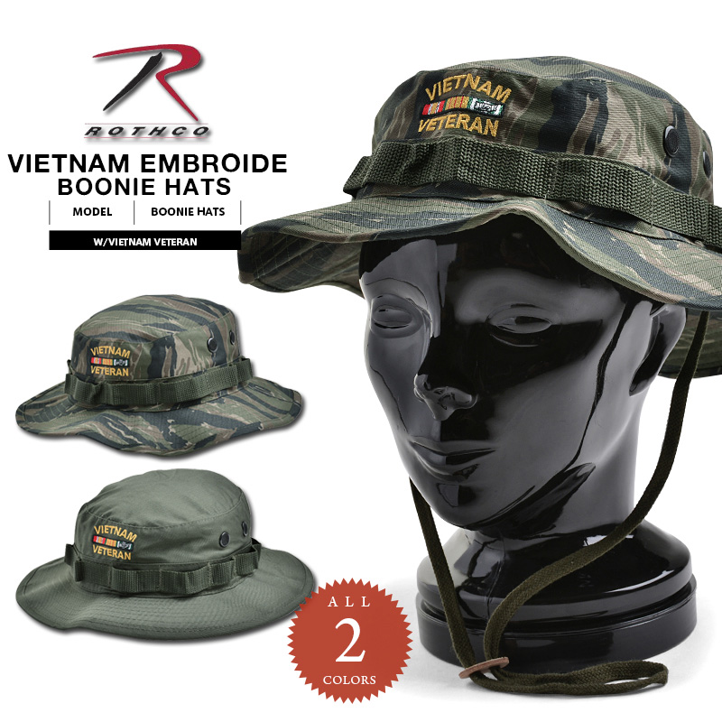 17d7dde0d43 It is just 15% OFF ◇ boo knee hat ROTHCO Roscoe EMBROIDERED boo knee hat  Vietnam war veteran model boo knee hat ROTHCO Roscoe hat WIP men military  outdoor