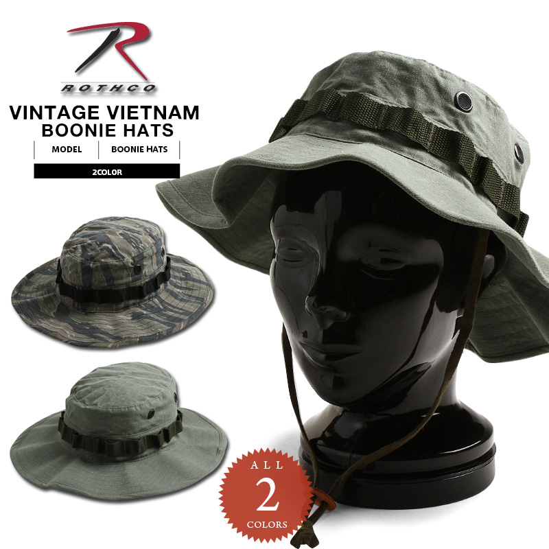 1cc48ba413b ROTHCO rothco VINTAGE VIETNAM BOONIE HAT 2 color military Hat WIP ROTHCO  Rothko