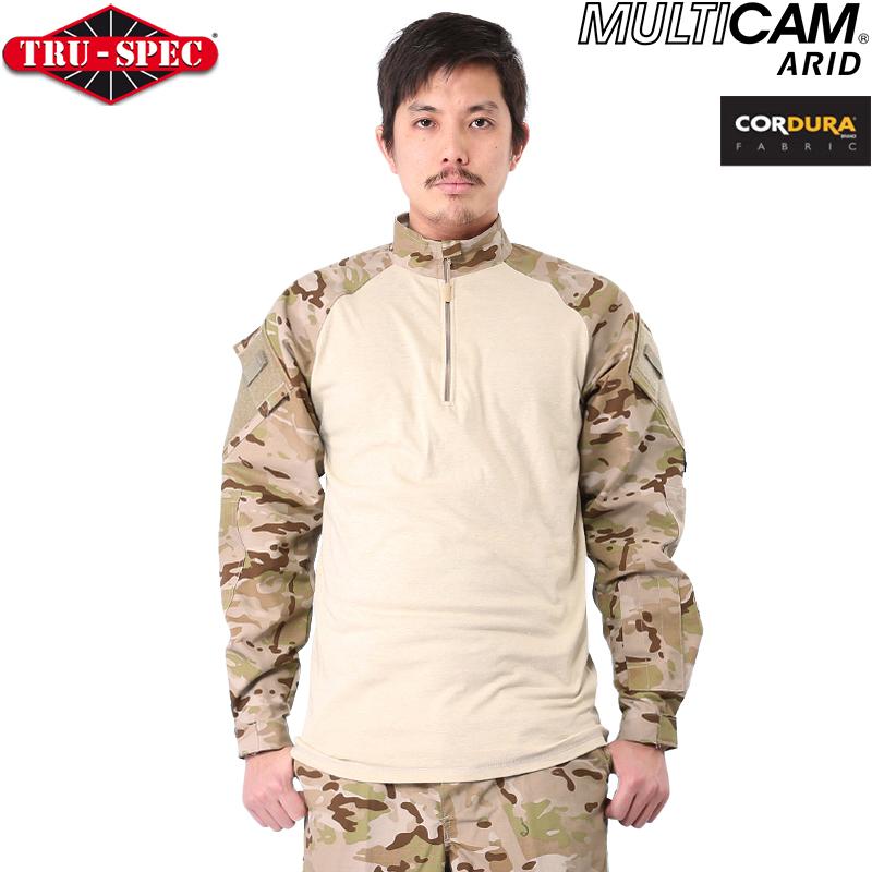 Sporting Goods Tactical Combat Shirt 1/4 Zip Tru-Spec Ripstop Camo Solid Colors