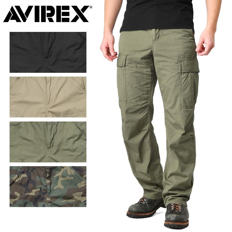 AVIREX アビレックス 6176084 コットン リップストップ ファティーグパンツ【クーポン対象外】 キャッシュレス 5%還元