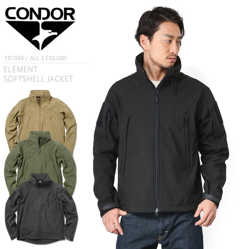 CONDOR コンドル 101098 ELEMENT ソフトシェルジャケット 【クーポン対象外】 WIP メンズ ジャケット ミリタリー アウトドア【新生活 新学期 買い替えに】