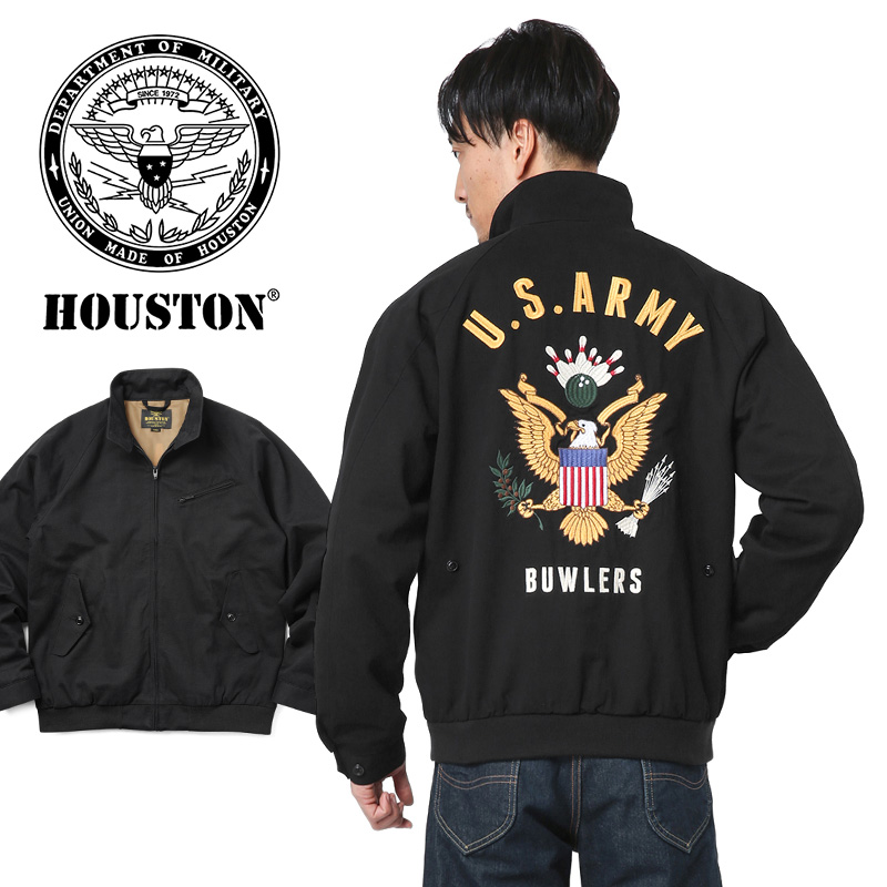 HOUSTON ヒューストン 50675 EMBROIDERY ドリズラージャケット(ARMY) WIP メンズ ミリタリー アウトドア [SPSA] 【クーポン対象外】 ブランド キャッシュレス 5%還元