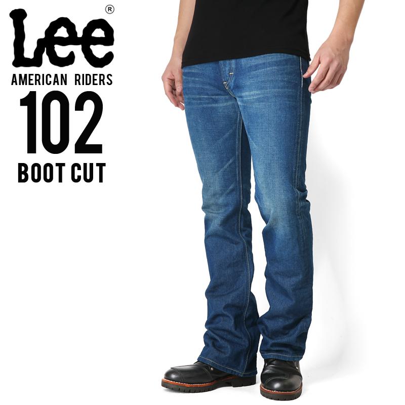 只今20%OFF◆Lee リー AMERICAN RIDERS 102 ブーツカット デニムパンツ 中色ブルー【LM5102-446】 WIP メンズ ミリタリー アウトドア【新生活 新学期 買い替えに】