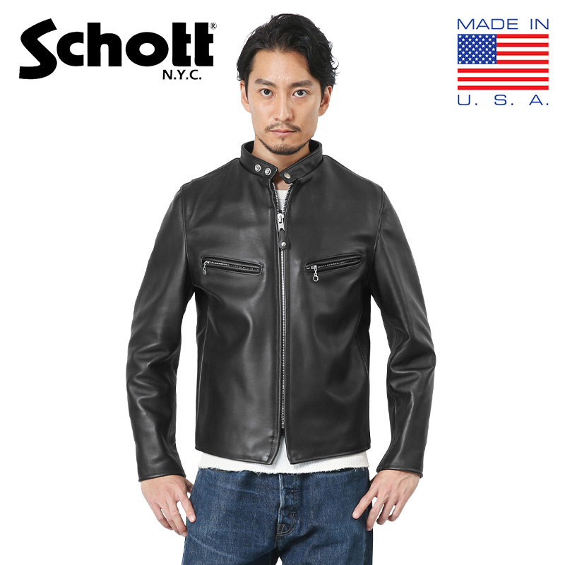 【あす楽】Schott ショット 7009 641XX 60s シングルレザーライダースジャケット 革ジャン レザージャケット WIP メンズ ミリタリー アウトドア【クーポン対象外】【入】 キャッシュレス 5%還元 新生活応援 衣替え