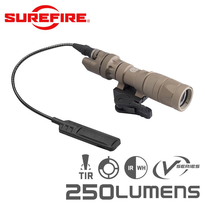 SUREFIRE シュアファイア M322V COMPACT WHITE / INFRARED LEDスカウトライト / ウェポンライト 250ルーメン(M322V-TN)【クーポン対象外】 LEDライト 懐中電灯 サバゲー用品 モデルガン ライフル 銃 装着型 WIP メンズ ミリタリー アウトドア レディース