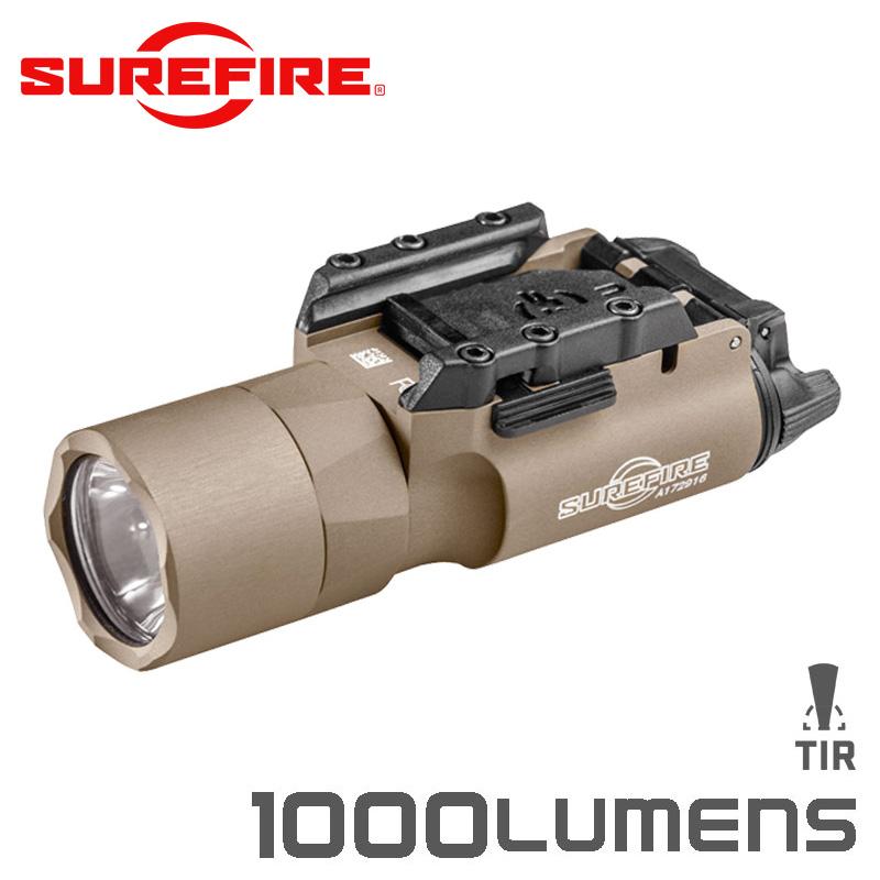 SUREFIRE シュアファイア X300U-A LEDウェポンライト / フラッシュライト 1000ルーメン TAN(X300U-A-TN)【クーポン対象外】 LEDライト 懐中電灯 サバゲー用品 モデルガン ライフル 銃 装着型 WIP メンズ ミリタリー アウトドア レディース【父の日ギフト プレゼントに】