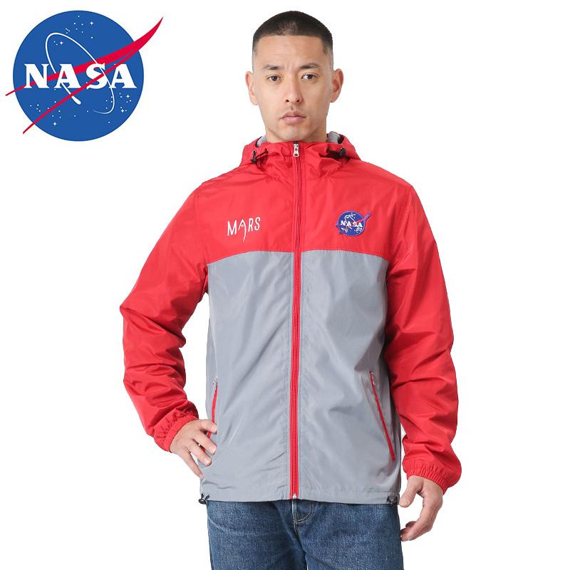クーポンで最大15%OFF!【あす楽】NASA公式 OFFICIAL ナサ オフィシャル MARS ジップアップ パーカー RED / GRAY WIP メンズ ミリタリー 敬老の日