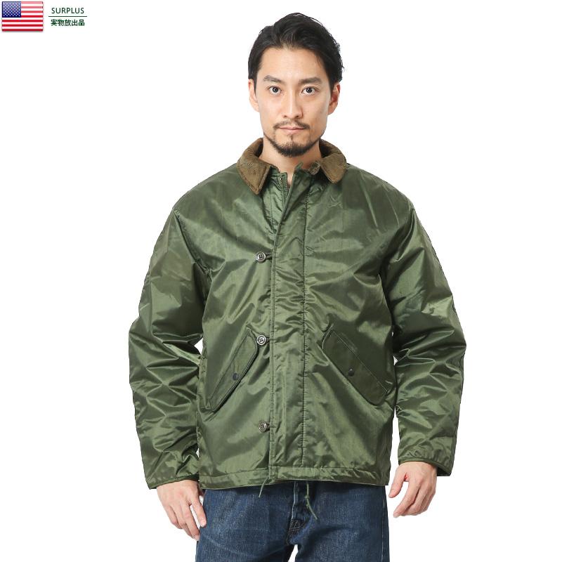 実物 新品 米軍 U.S.NAVY EXTREME COLD WEATHER IMPERMEABLE デッキジャケット 【クーポン対象外】