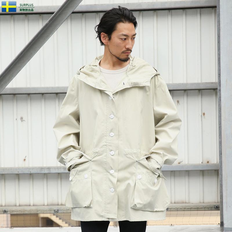 店内20%OFF◆ミリタリージャケット 実物 新品 スウェーデン軍 M-62 コットン スノーカモパーカー / ミリタリー 実物放出品 軍払い下げ品 スノーカモフラージュ メンズカジュアル キャッシュレス 5%還元