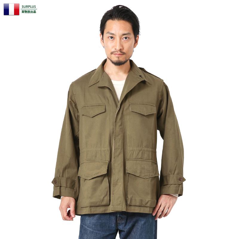 【あす楽】メンズ ジャケット ミリタリー 実物 新品 デッドストック フランス軍 M-47 フィールドジャケット HBT(ヘリンボーンツイル)製 WIP アウトドア 【クーポン対象外】 #francem47jacket 夏 敬老の日