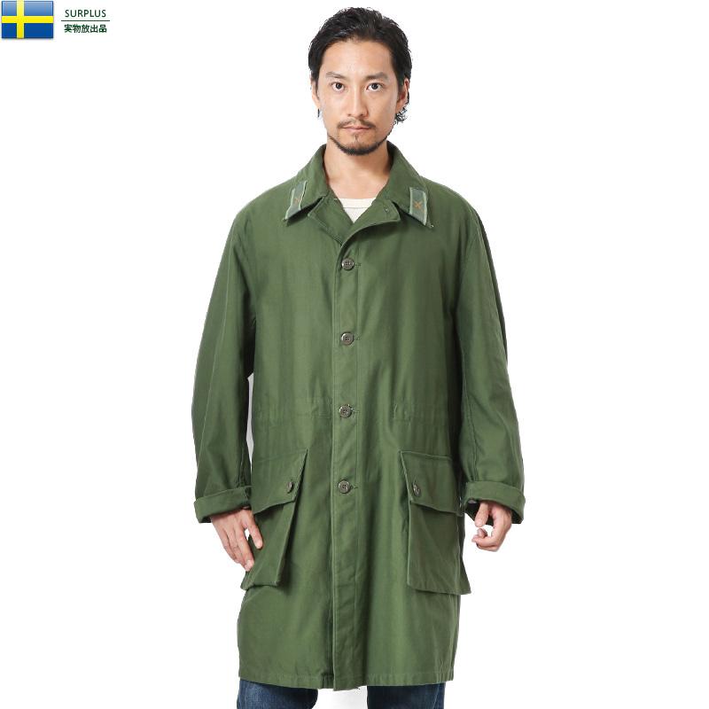 実物 USED スウェーデン軍 M-59 フィールドコート【クーポン対象外】ミリタリージャケット ステンカラー 軍放出品 オーバーサイズ アウター WIP メンズ ミリタリー アウトドア