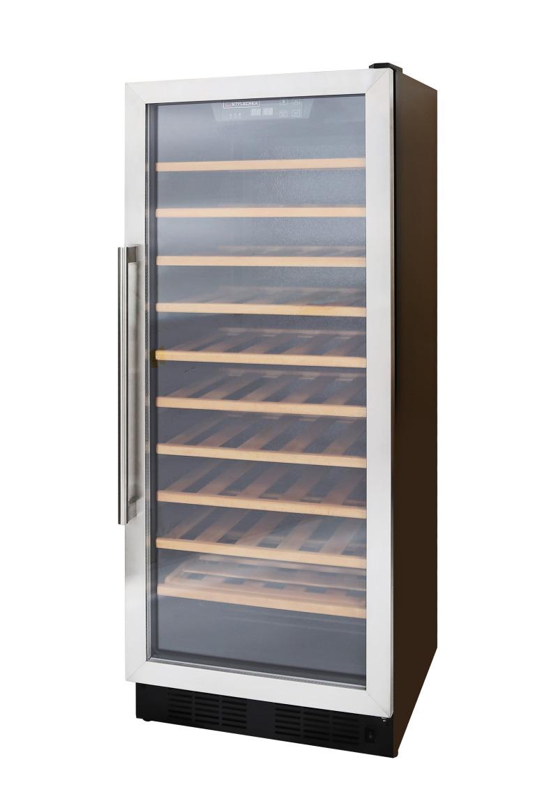 ワインセラー【STYLECREA/スタイルクレア】SCー52(ガラス扉)52本収納/温度管理/湿度管理/ヒーター機能/電子タッチパネル/木製棚/スリムタイプ