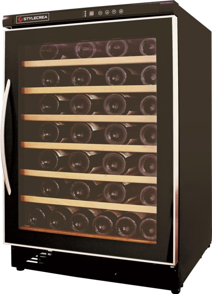 【送料無料】ワインクーラー【STYLECREA/スタイルクレア】SCー54(ガラス扉)54本収納/電子タッチパネル/木製棚
