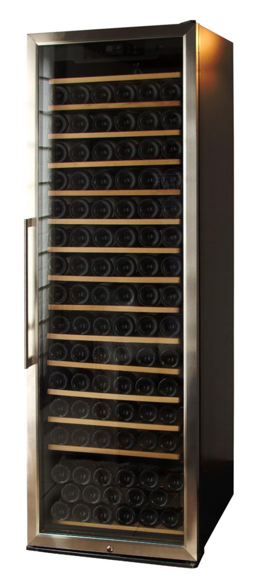 ワインセラー【STYLECREA/スタイルクレア】SCー171(ガラス扉)171本収納/温度管理/湿度管理/ヒーター機能/電子タッチパネル/木製棚