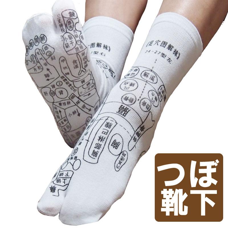 保障 ギフトに WAKASUGI 買取 家族で楽しみながらツボ押しが 足ツボ靴下 足裏に つぼ をプリントしたユニークな靴下 足ツボソックス ツボ押ししやすい プリント サイズ22~26センチ 反射区 くつした メール便発送 プリントは中国語 注目商品