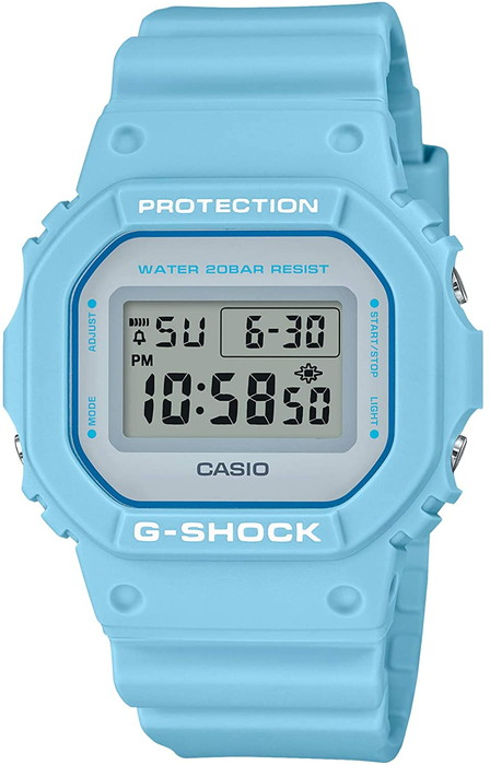 CASIO 腕時計 G-SHOCK ジーショック Spring Color Series/ライトブルー【DW-5600SC-2JF】   メンズ レディース ユニセックス
