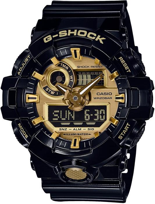 -------------------------★全国送料無料!! 国内正規品★------------------------- CASIO  腕時計  G-SHOCK  ジーショックGarish(ガリッシュ)カラー  ブラック/ゴールド【GA-710GB-1AJF】  メンズ  デジアナ