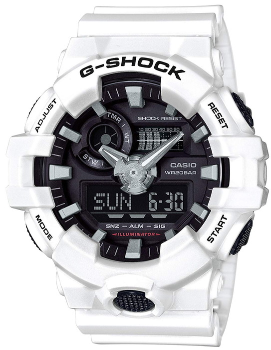 CASIO 腕時計 G-SHOCK ジーショック 耐衝撃構造 GA-700-7AJF  メンズ  ホワイト