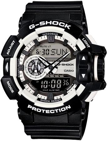 CASIO 腕時計 G-SHOCK ジーショックHyper Colors(ハイパーカラーズ)【GA-400-1AJF】  ブラック/ホワイト  メンズ