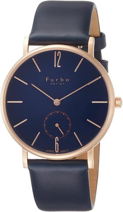 Furbo design フルボデザイン  腕時計 クォーツ ネイビー文字盤  レザーベルト【F01-PNVNV】  メンズ