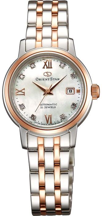 ORIENTSTAR オリエントスター 腕時計 自動巻き(手巻き付)機械式ダイヤ8個入り  白蝶貝文字盤  レディースWZ0441NR