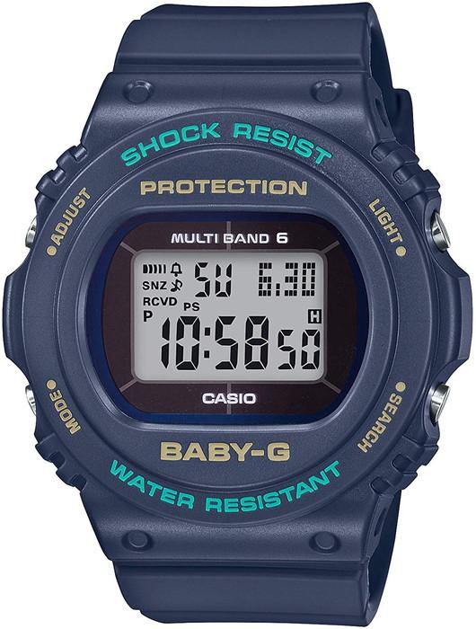 CASIO 腕時計 BABY-G ベビージー 電波ソーラー デジタル   20気圧防水BGD-5700-2JF   シンプル   ネイビー