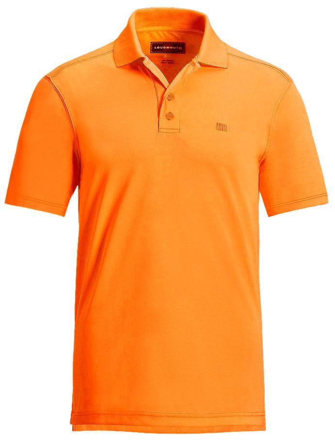 【激レア】LOUDMOUTH ラウドマウスゴルフ Essential Autumn Glory Orange Shirts ポロシャツ US直輸入!