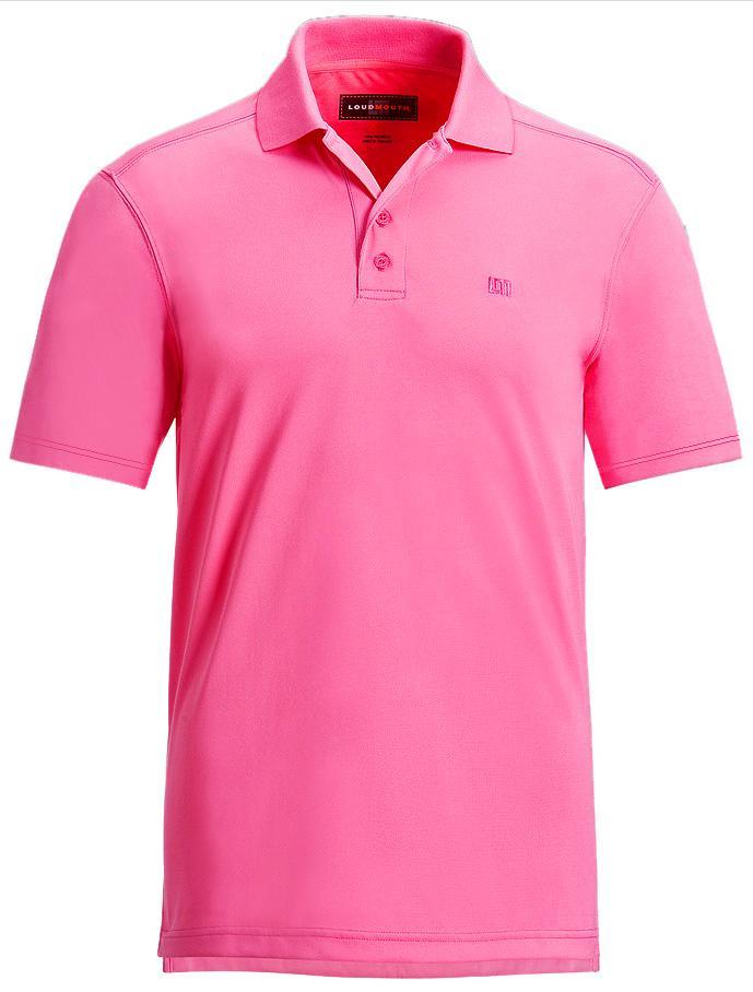 【激レア】LOUDMOUTH ラウドマウスゴルフ Essential Carmine Rose Pink Shirts ポロシャツ US直輸入!
