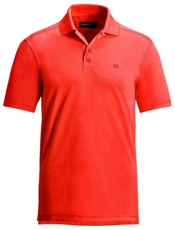 【激レア】LOUDMOUTH ラウドマウスゴルフ Essential Fiery Red Shirts ポロシャツ US直輸入!