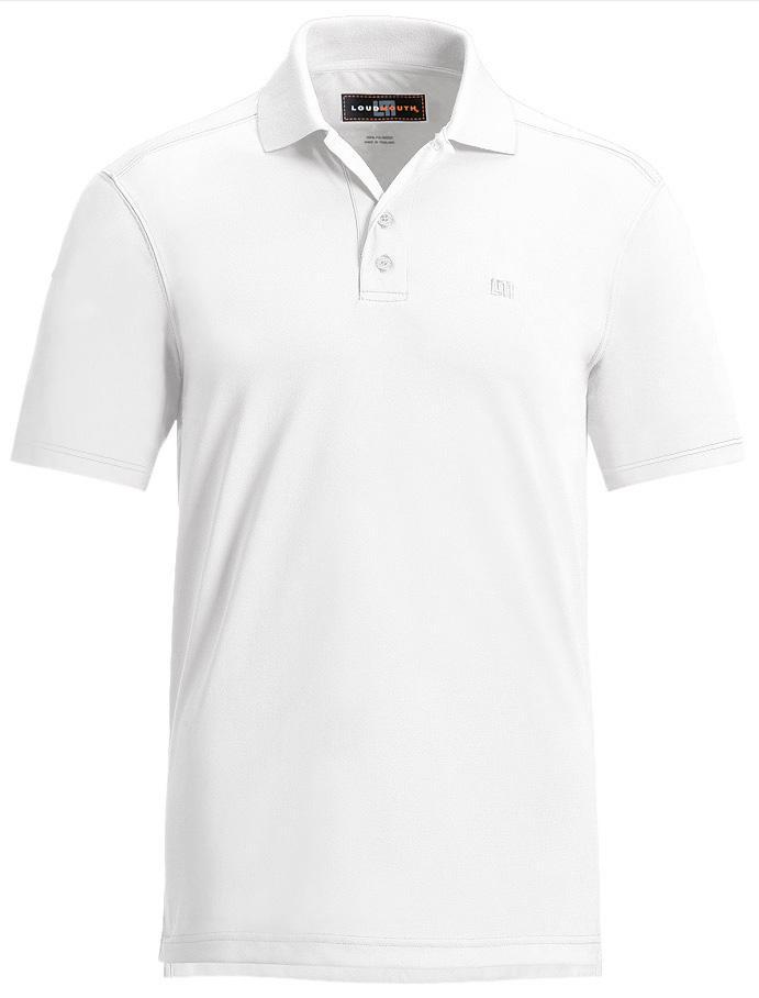 【激レア】LOUDMOUTH ラウドマウスゴルフ Essential Stark White Shirts ポロシャツ US直輸入!