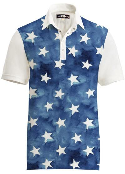 【激レア】LOUDMOUTH ラウドマウスゴルフ Polo Fancy All Stars ポロシャツ US直輸入!