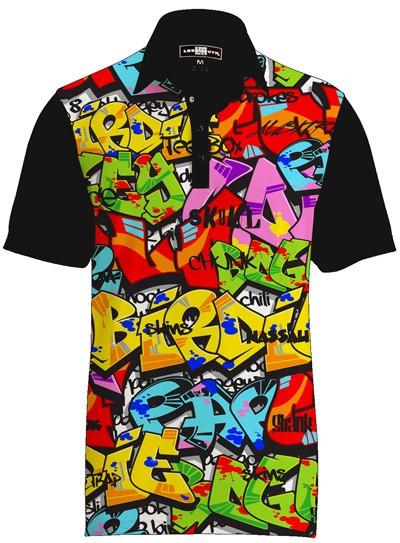 【激レア】LOUDMOUTH ラウドマウスゴルフ Polo Fancy Tags ポロシャツ US直輸入!
