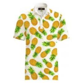 【激レア】LOUDMOUTH ラウドマウスゴルフ Polo Fancy Pina Colada ポロシャツ US直輸入!
